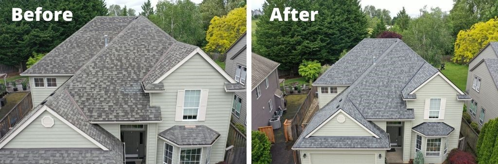 replaced old roofing with new roofing sherwood
